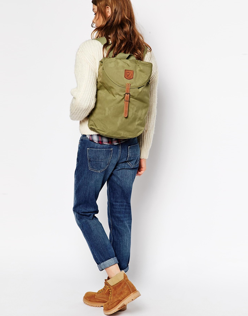f7dad58c6 Fjallraven Greenland Small Backpack in Green - Lyst