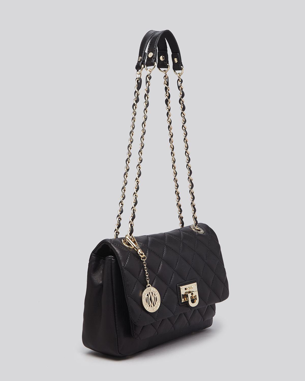 Dkny Shoulder Bag - Gansevoort Quilted Flap Pocket in Black | Lyst