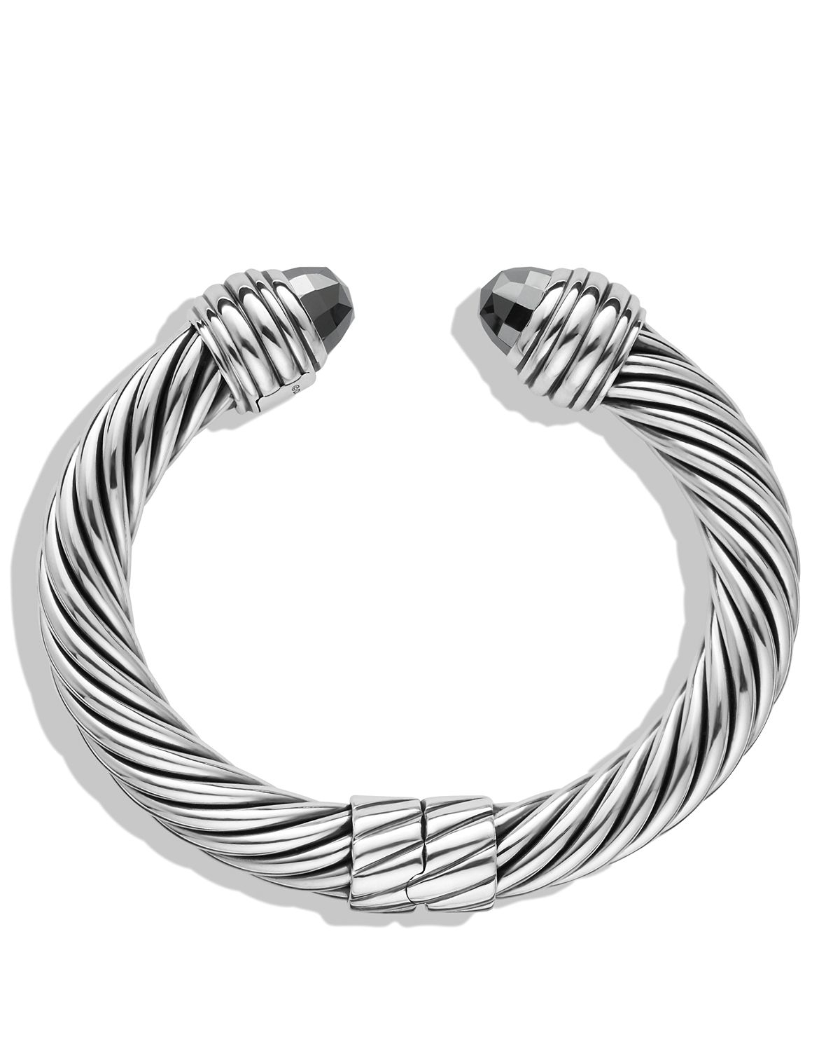 Lyst david yurman cable classics bracelet with hematine for David yurman inspired bracelet cable