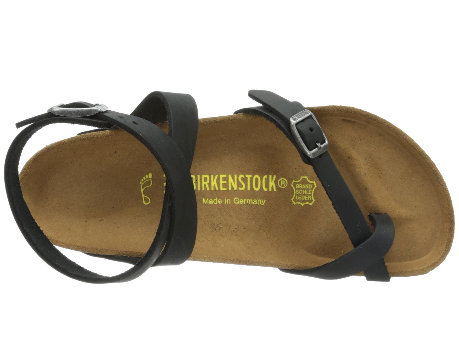 4c2ce18399e Lyst - Birkenstock Yara Oiled Leather in Black