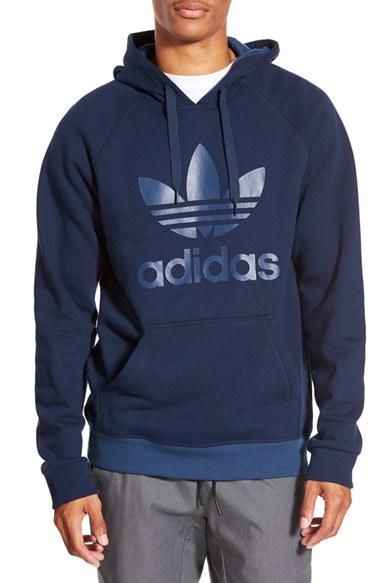 adidas hoodie trefoil blue