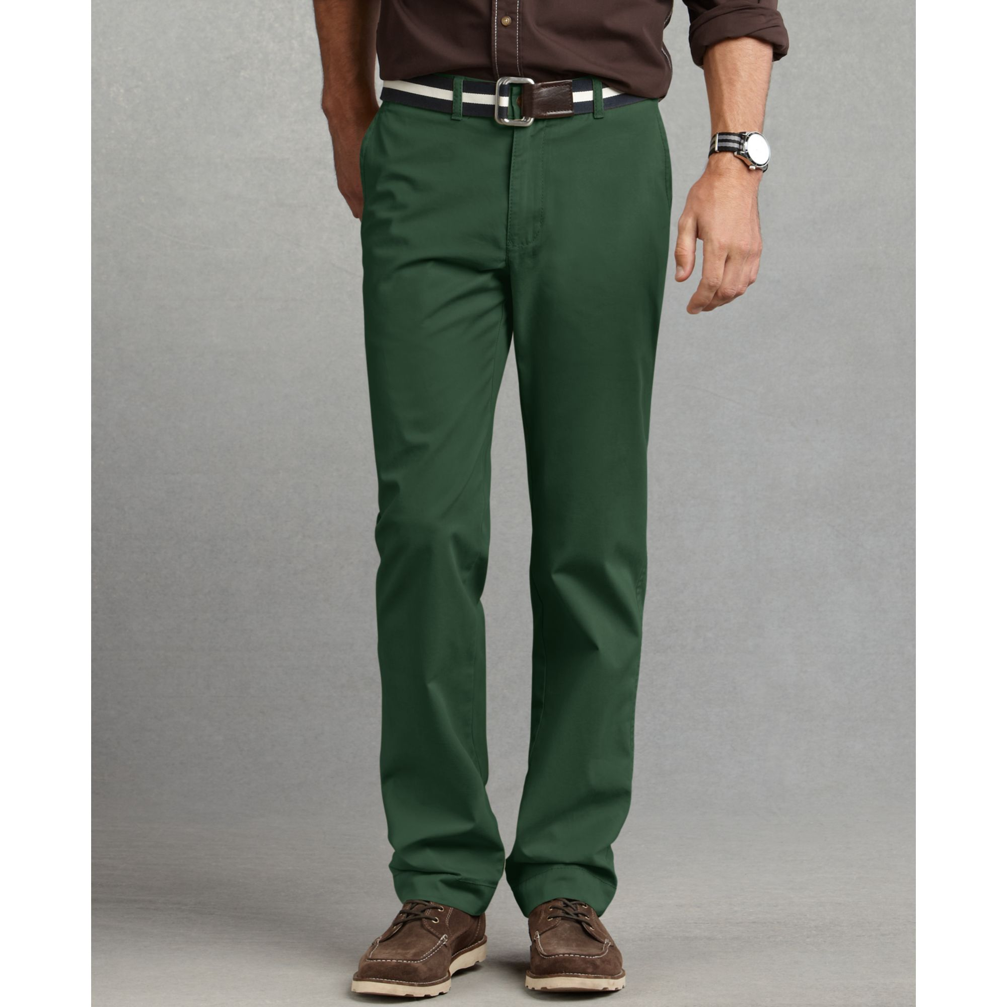 Tommy hilfiger Graduate Slim Fit Chino Pants in Green for Men | Lyst