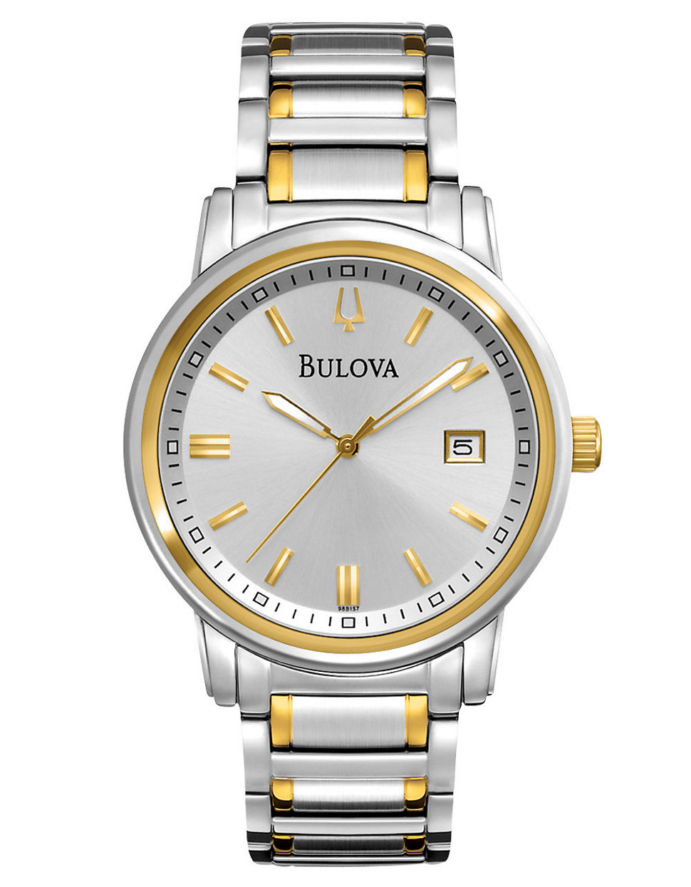 bulova s highbridge two tone stainless steel silver