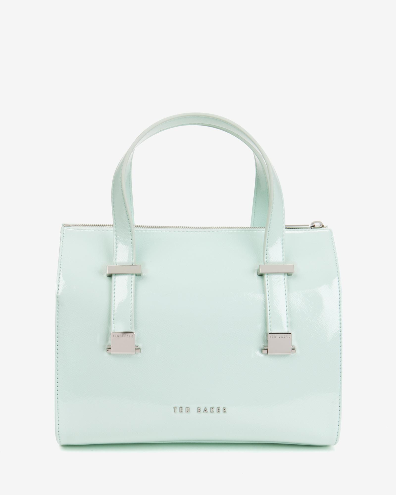 Ted Baker Crosshatch Bowler Bag in Mint (Green)