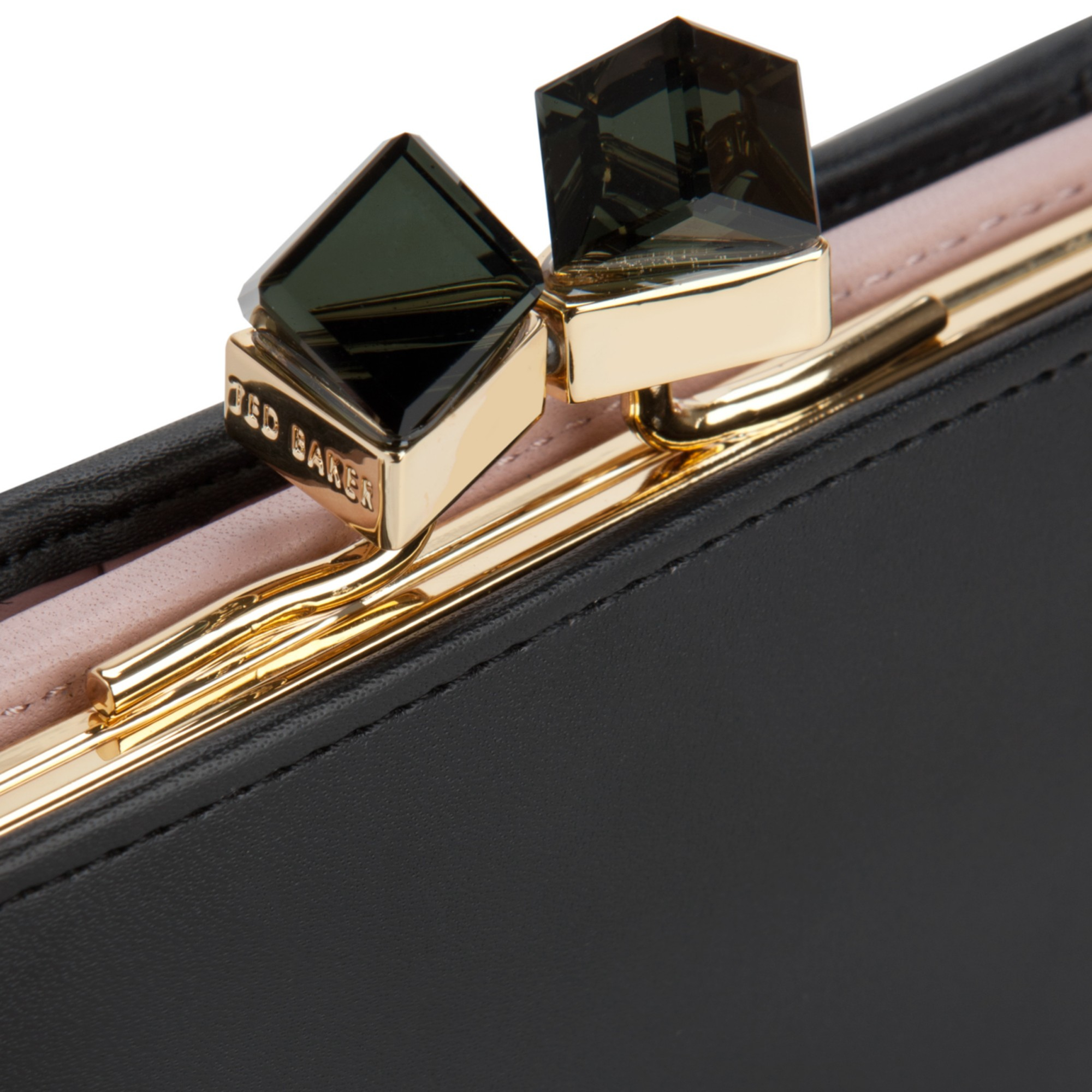 49847af295 Ted Baker Elly Small Square Crystal Leather Purse in Black - Lyst