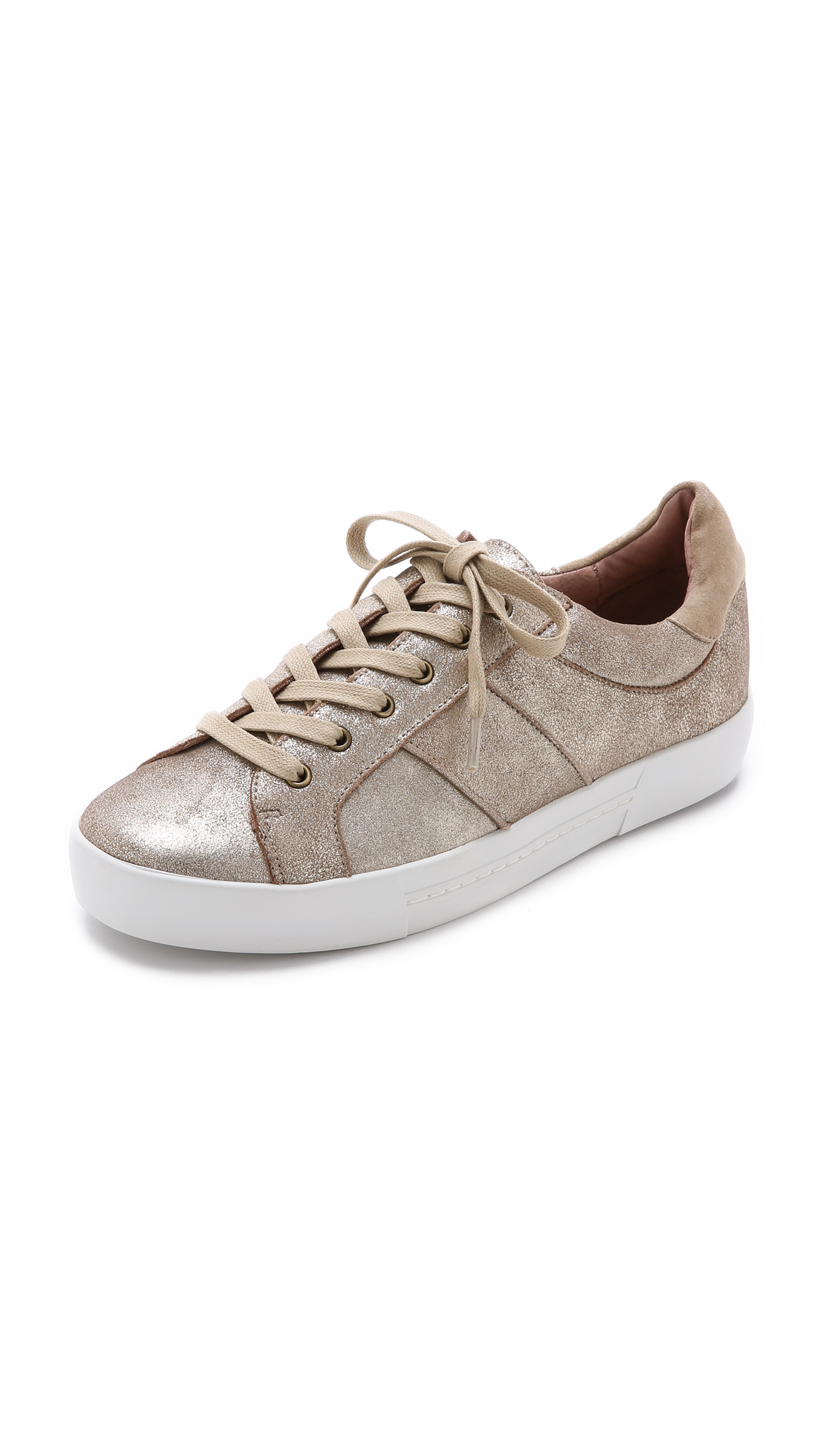 Joie Leather Dakota Sneakers in Metallic