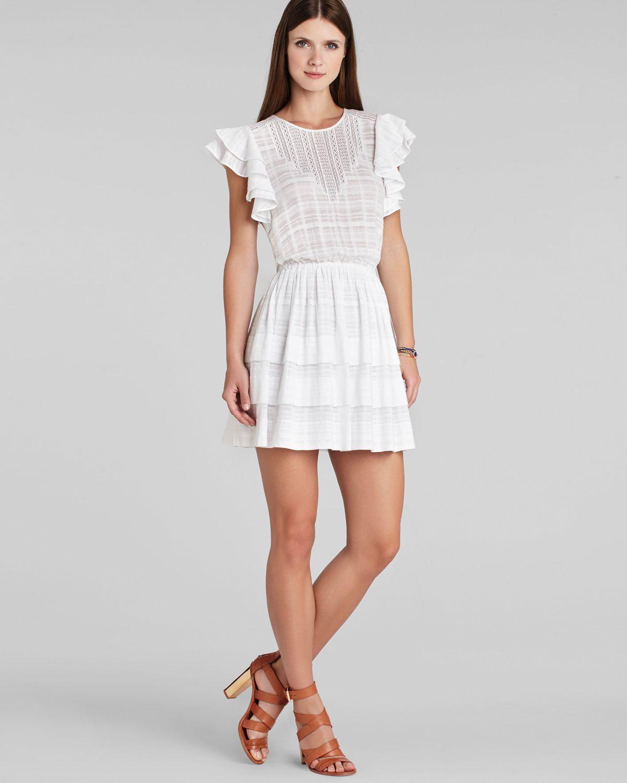 07c3d3fcdc8 Lyst Bcbgmaxazria Bcbg Max Azria Dress Joice Ruffle In White