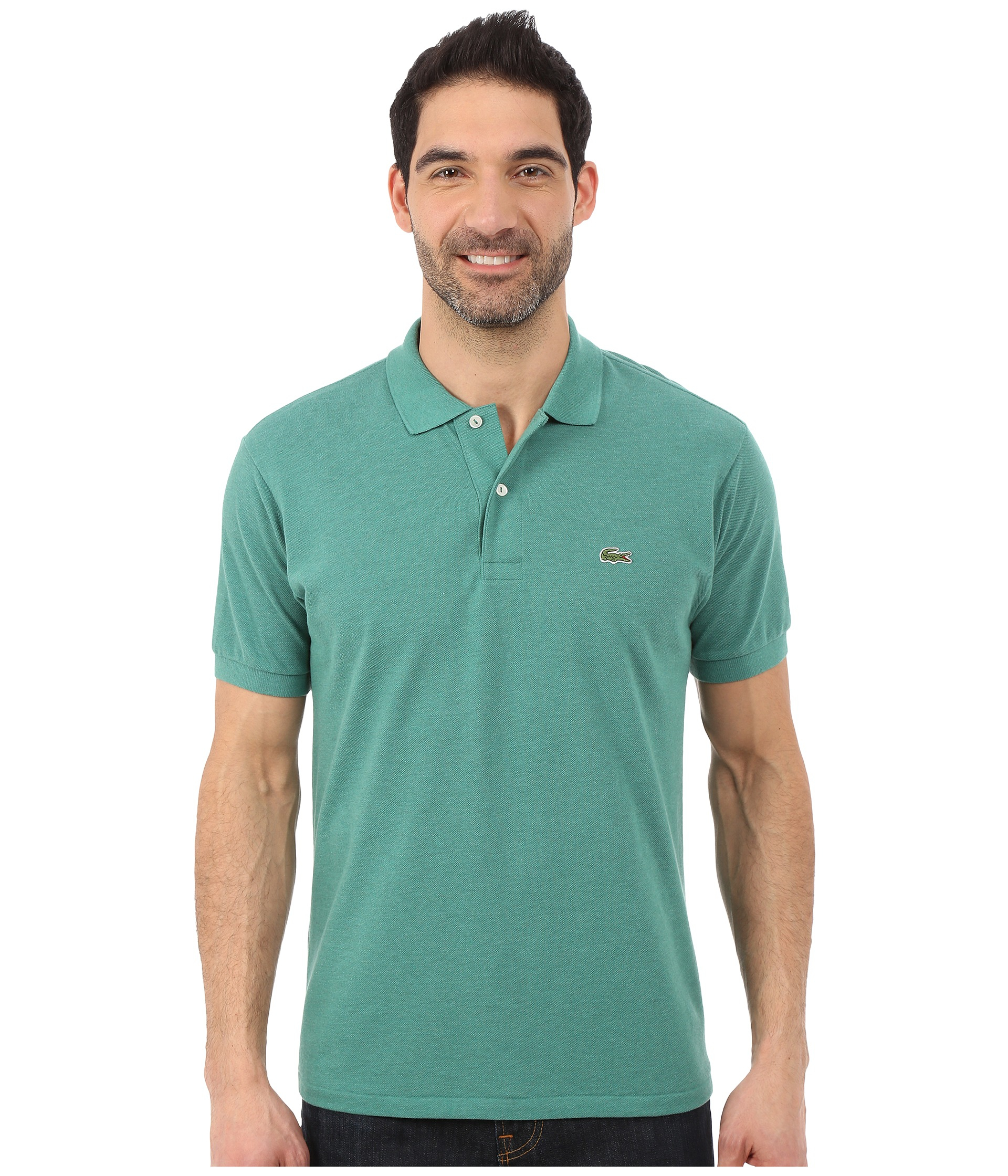 lacoste short sleeve chine classic pique polo shirt in. Black Bedroom Furniture Sets. Home Design Ideas