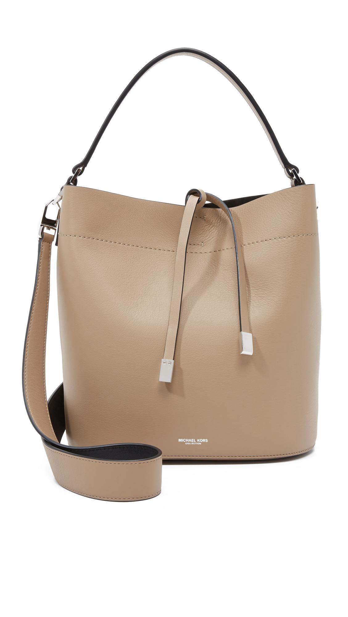 michael kors miranda medium shoulder bag in brown lyst. Black Bedroom Furniture Sets. Home Design Ideas