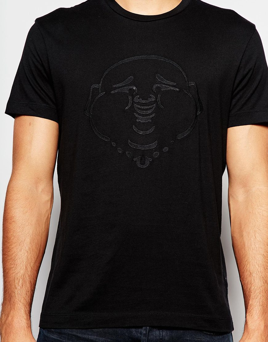 ec16fb2f27a4e Lyst - True Religion Embroidered Buddha T-shirt in Black for Men