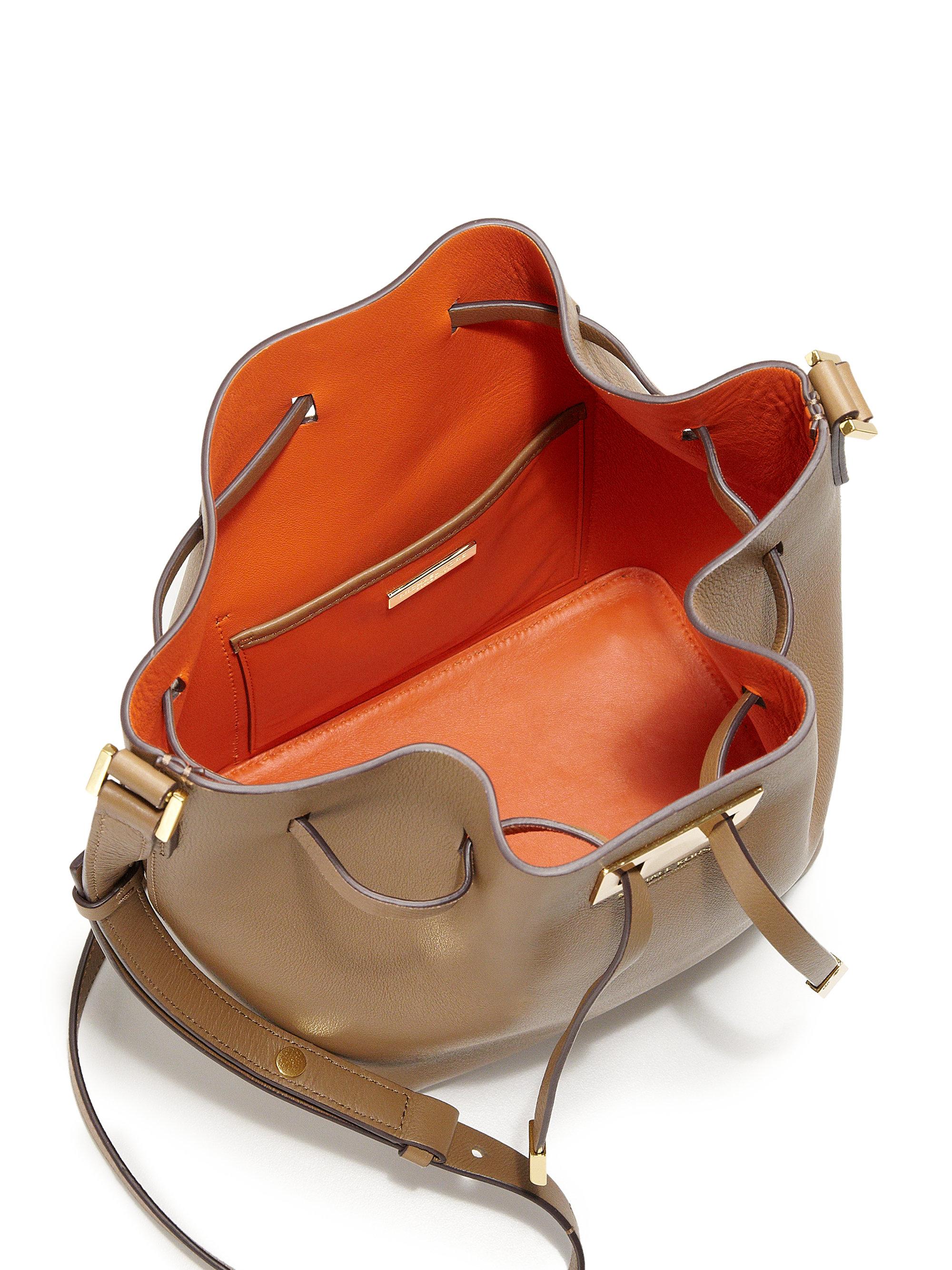 a0d3abb63e9f7e ... Messenger Desert Clemi Michael kors Miranda Medium Leather Bucket Bag  in Natural ...