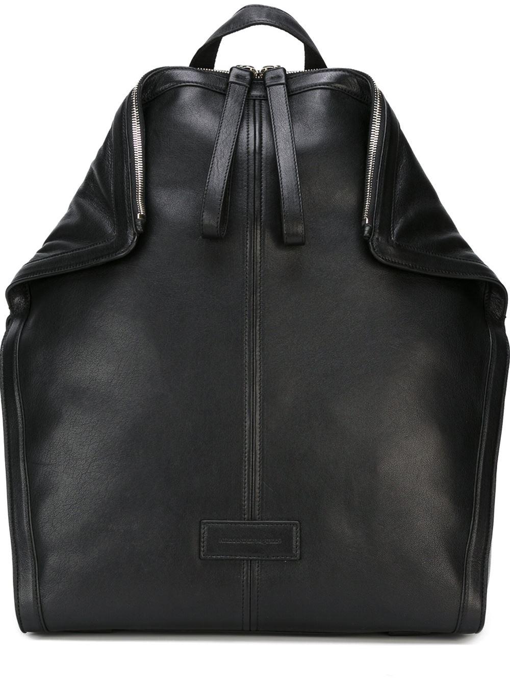 Alexander McQueen 'de Manta' Backpack in Black for Men