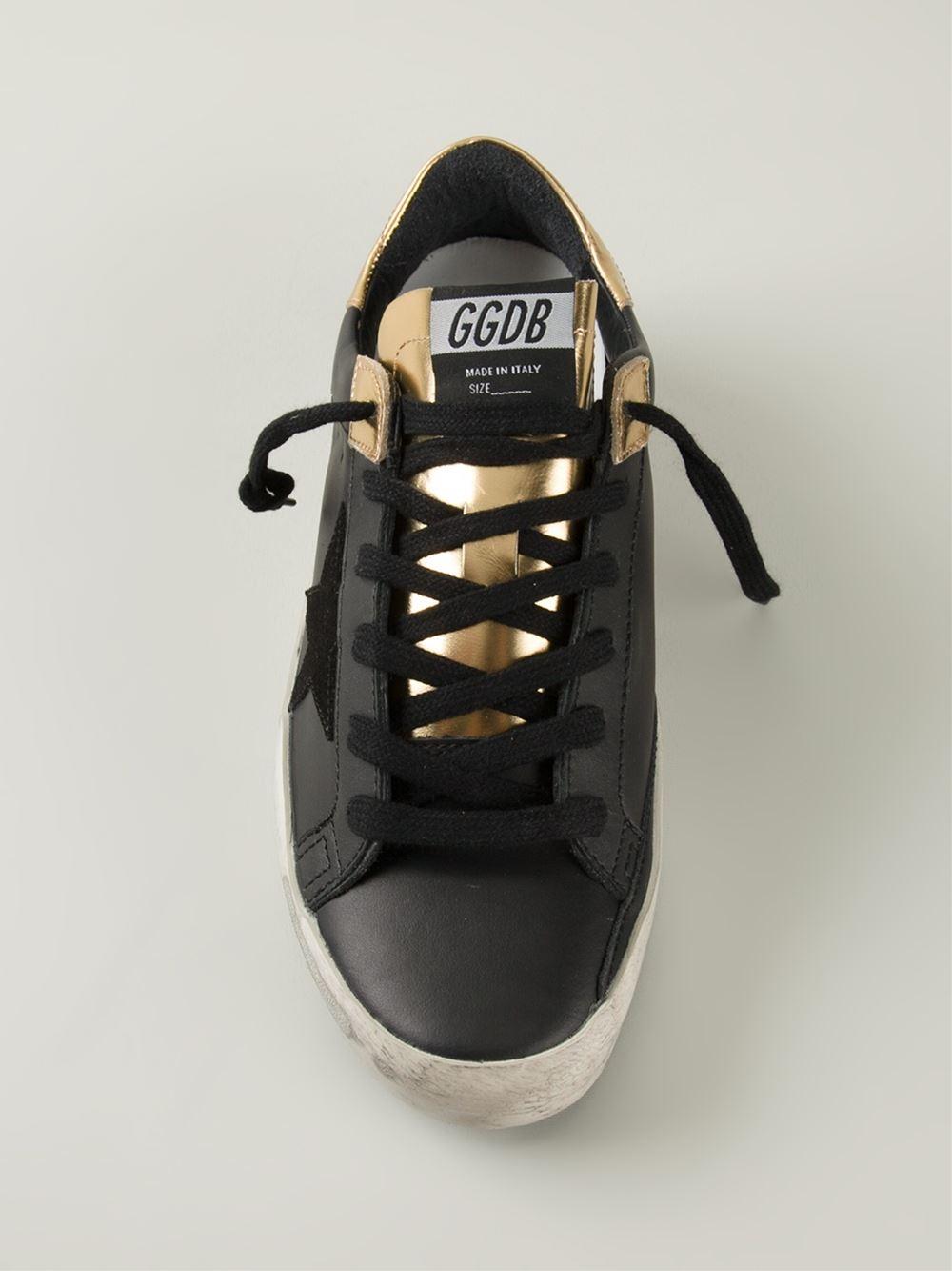 Golden Goose Deluxe Brand 'Superstar Records Edition' Sneakers in Black