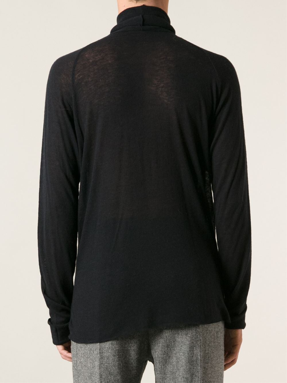 haider ackermann sforza sheer sweater in black for men lyst. Black Bedroom Furniture Sets. Home Design Ideas