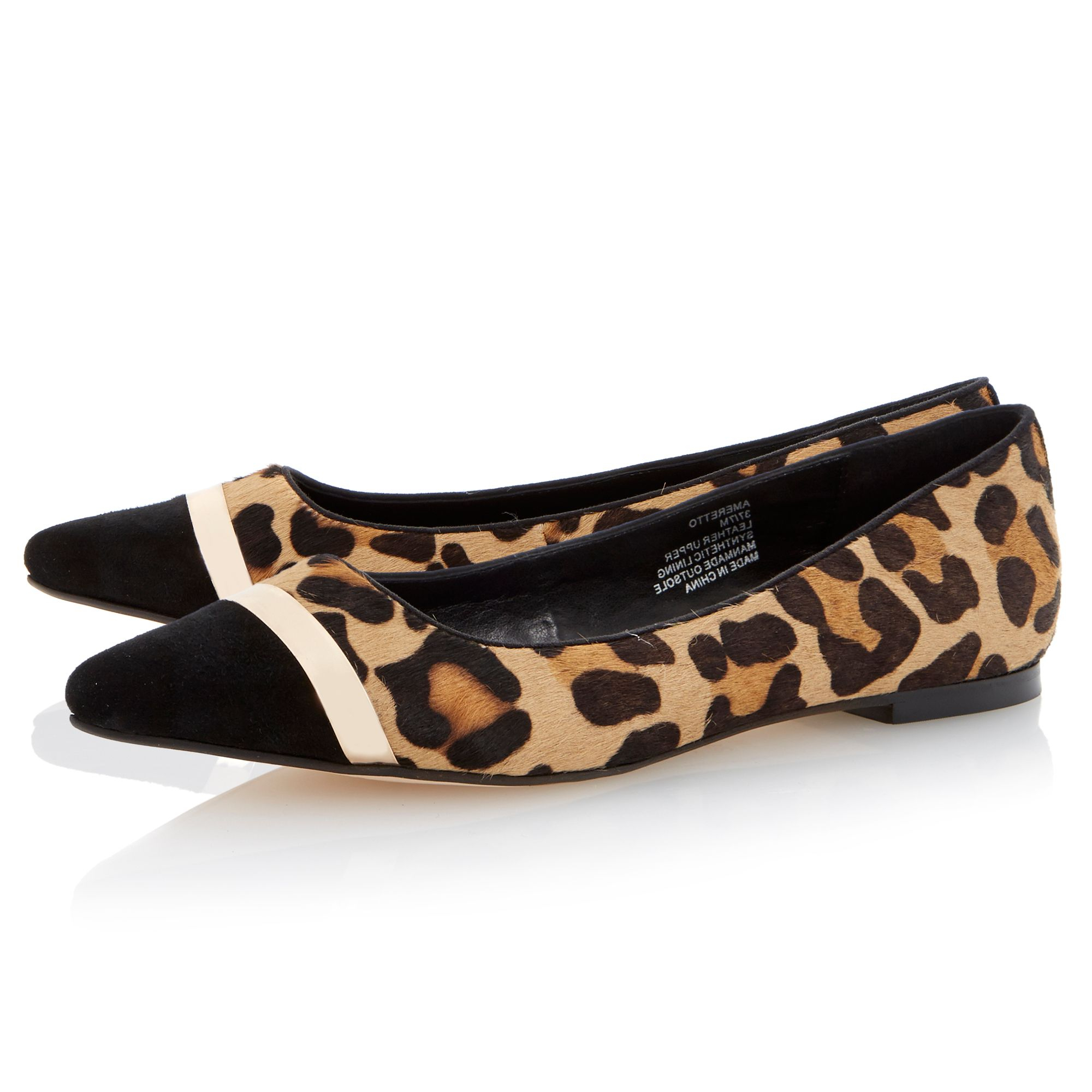 Dune Ameretto Pointed Toe Flat Shoes   Lyst