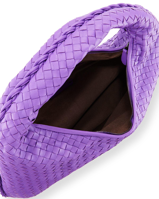 24c11bbde4 Lyst - Bottega Veneta Veneta Large Sac Hobo Bag in Purple