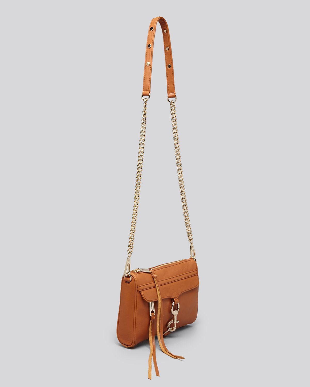 Rebecca Minkoff Crossbody Clutch Mini Mac in Camel/Light Gold (Brown)