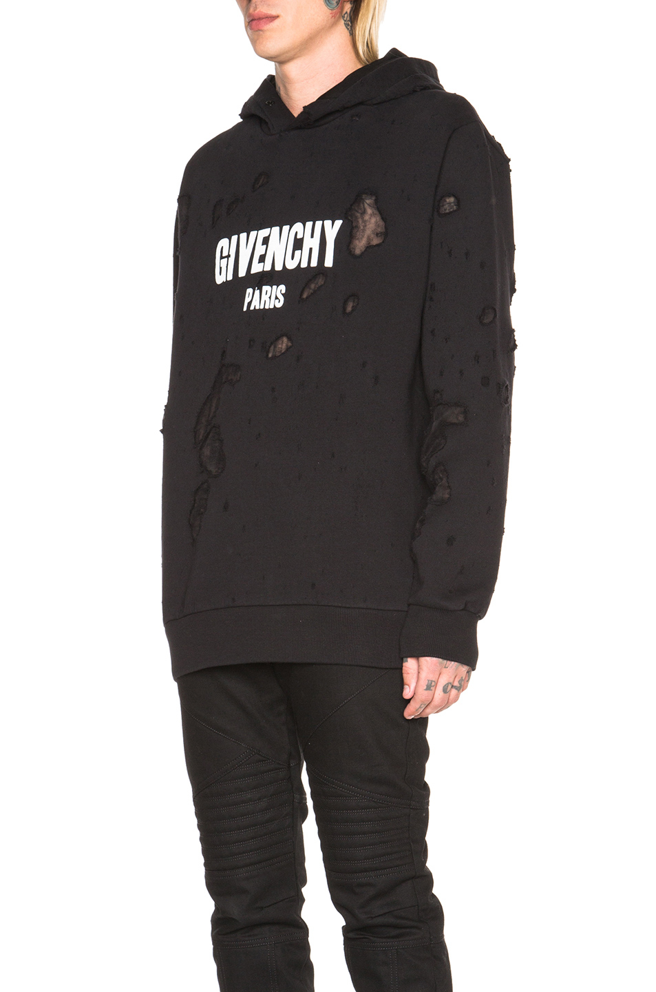 lyst givenchy paris hoodie in black