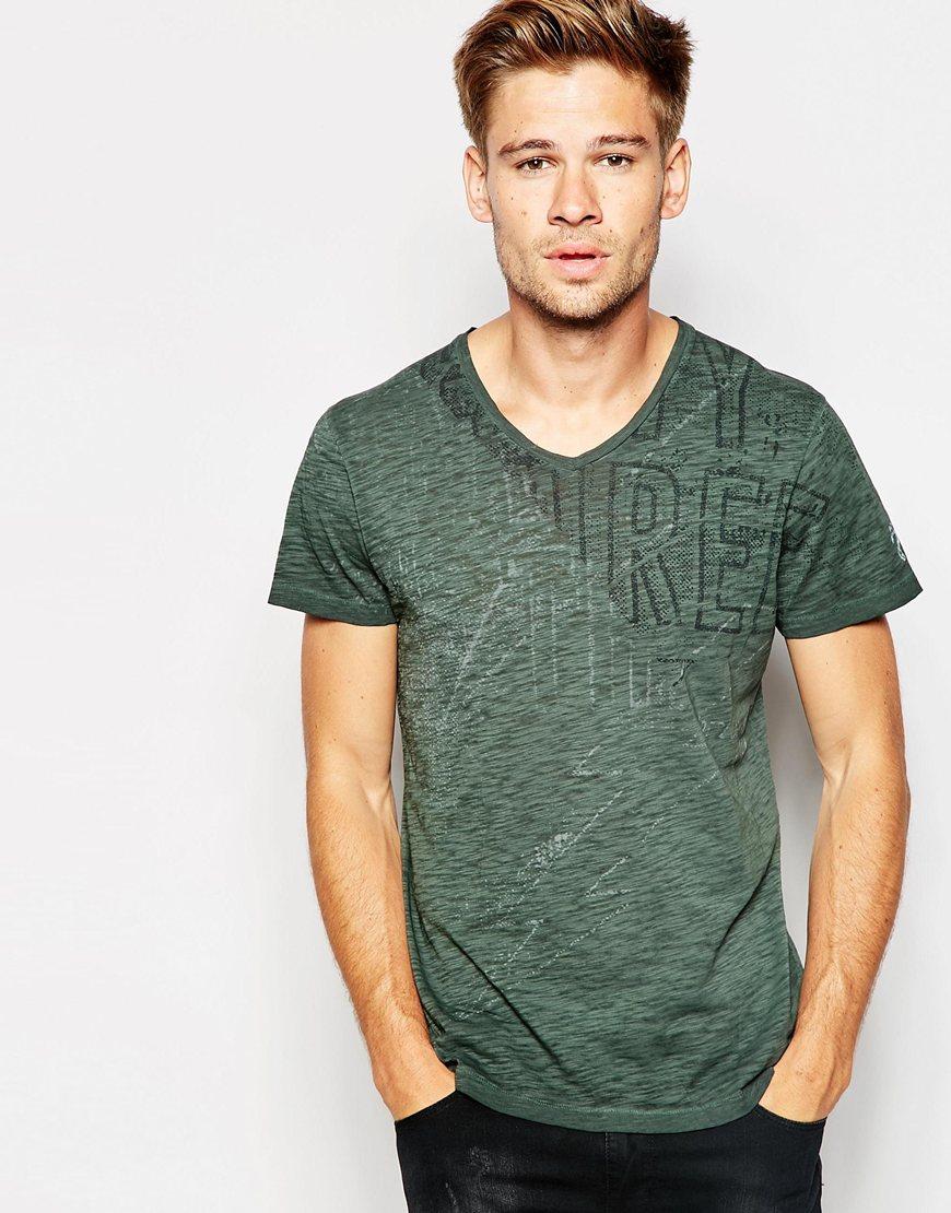 Lyst - Pepe Jeans Derrick T-shirt in Green for Men