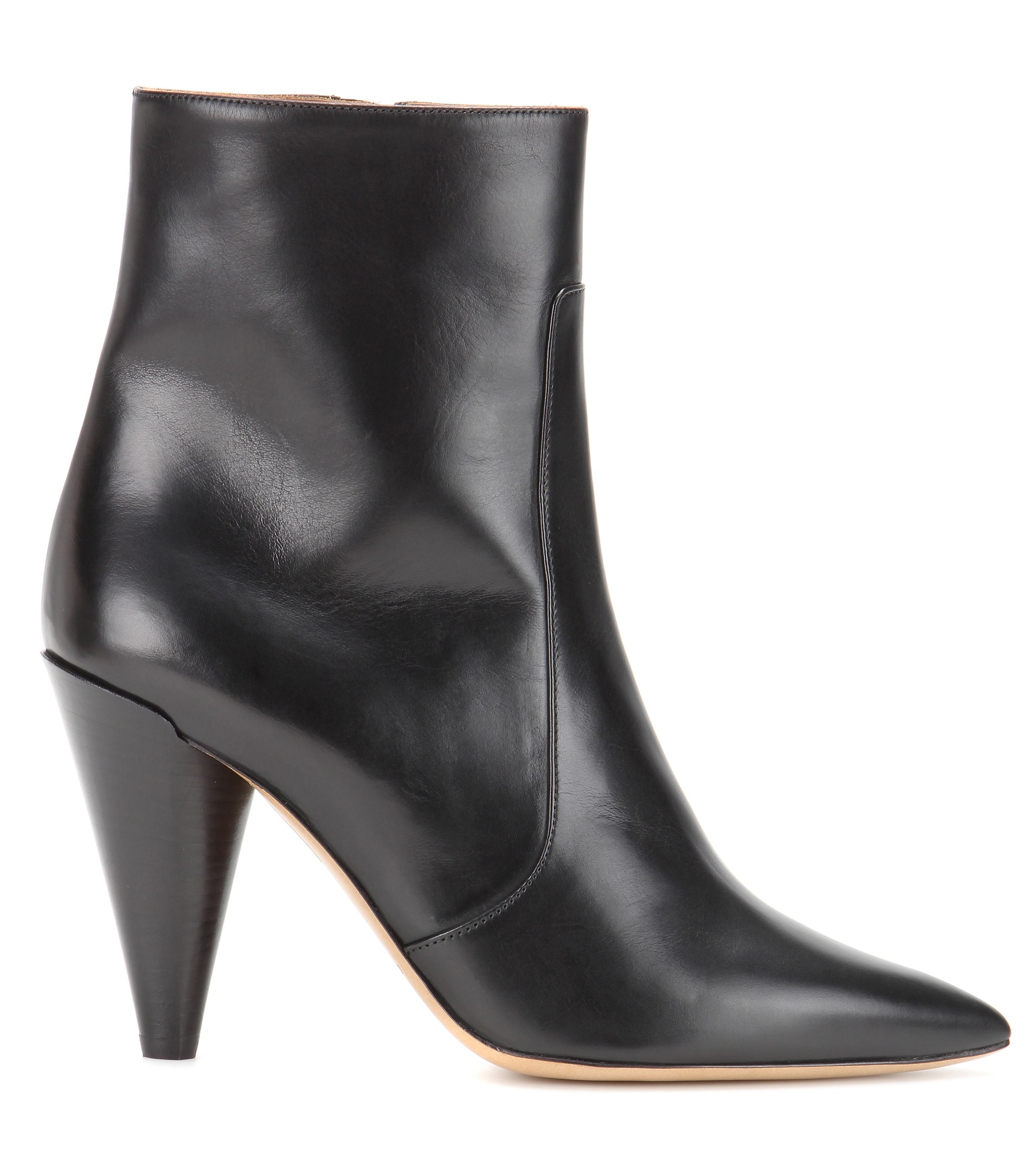 Isabel Marant Naelle Leather Ankle Boots in Black