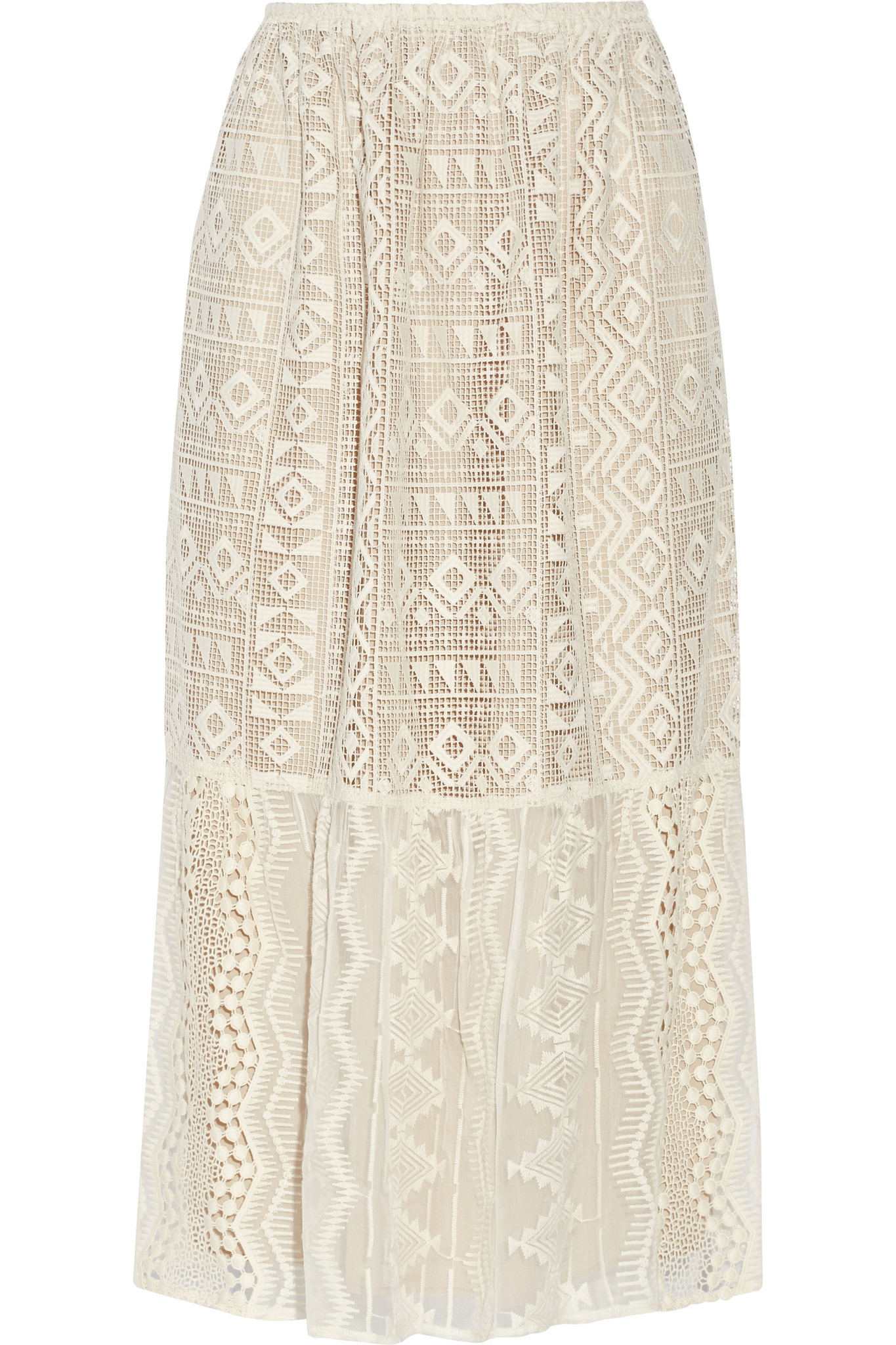 2019 year lifestyle- Pencil lace skirt cream