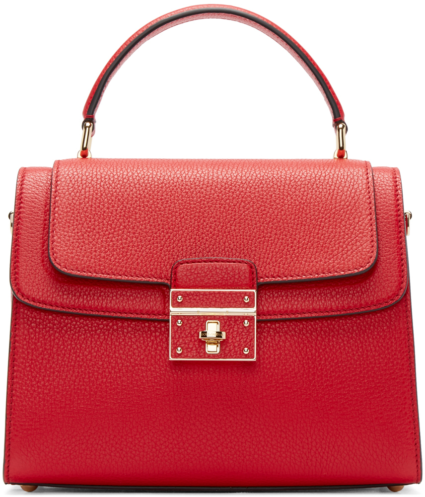 4ad929ae2a Lyst - Dolce   Gabbana Red Leather Greta Duffle Bag in Red