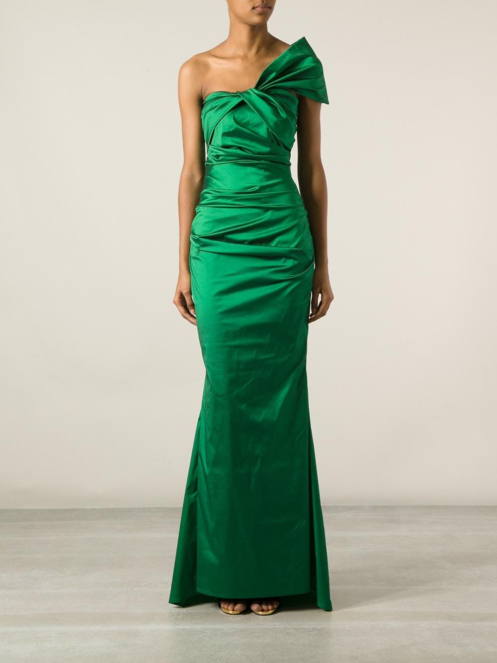 Talbot Runhof Cosima Evening Dress In Green Lyst