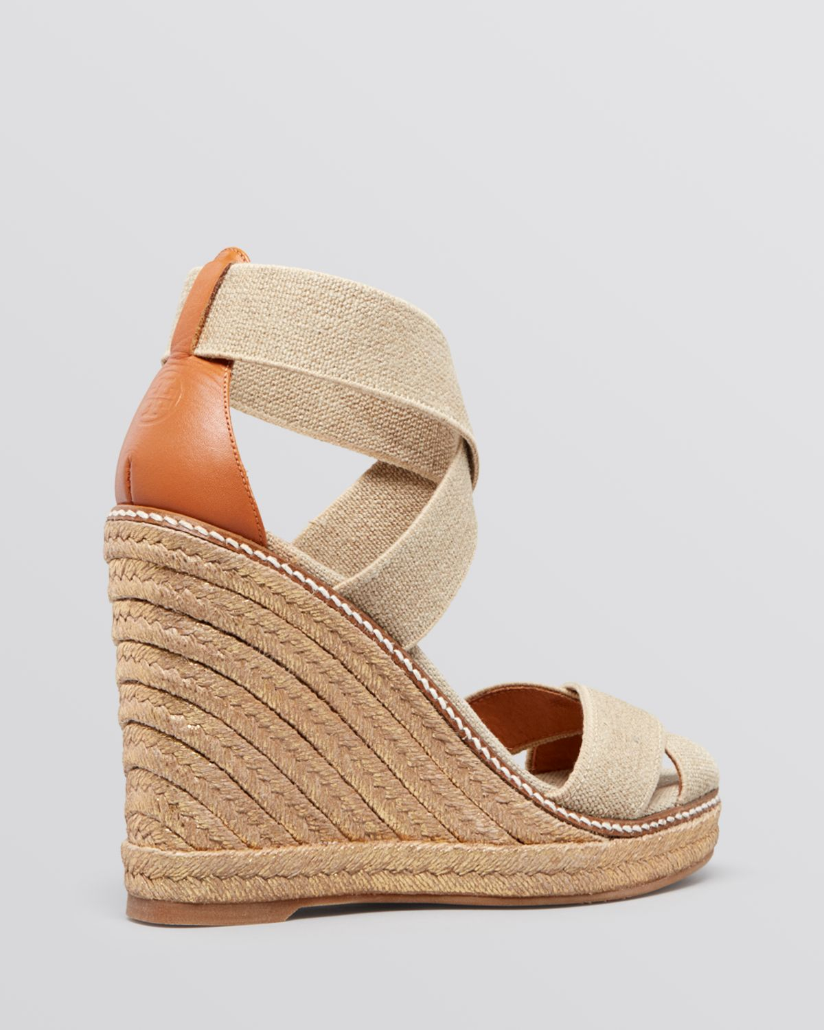 a262c5b3e7db34 Tory Burch Platform Wedge Espadrille Sandals Adonis in Natural - Lyst