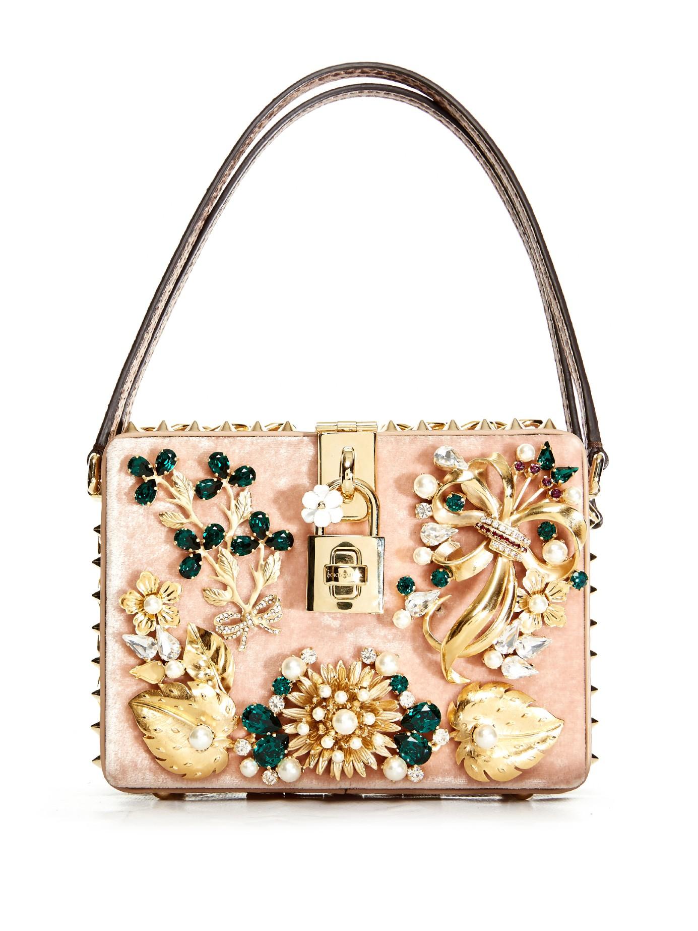9a32e2c33a47 Lyst - Dolce   Gabbana Dolce Mama Embellished Box Bag
