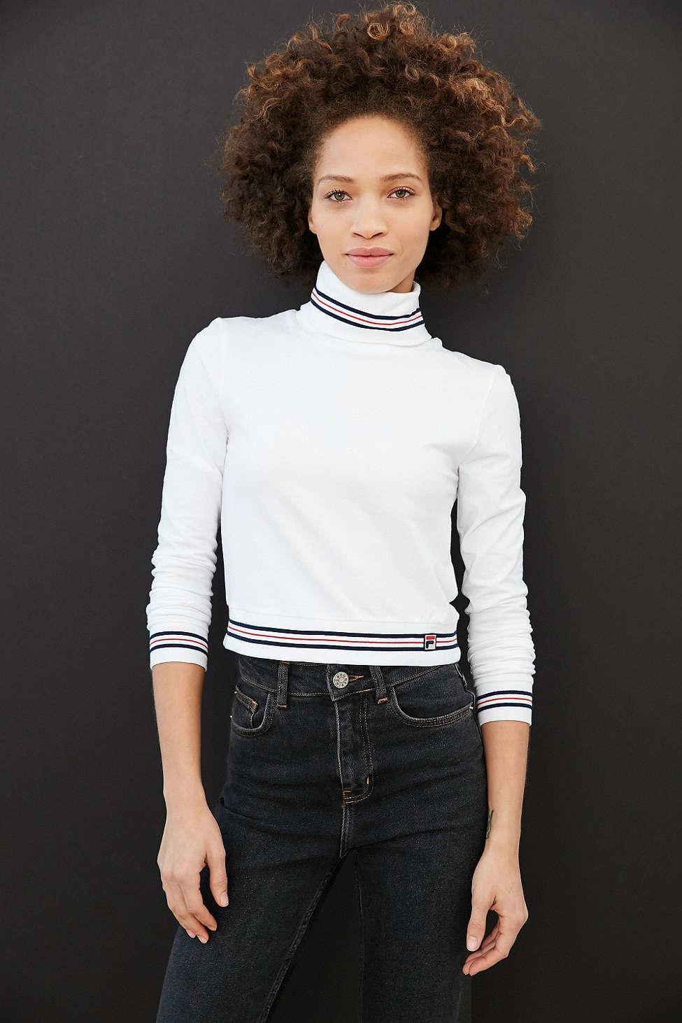 d81e53e9203 Fila + Uo Rita Turtleneck Top in White