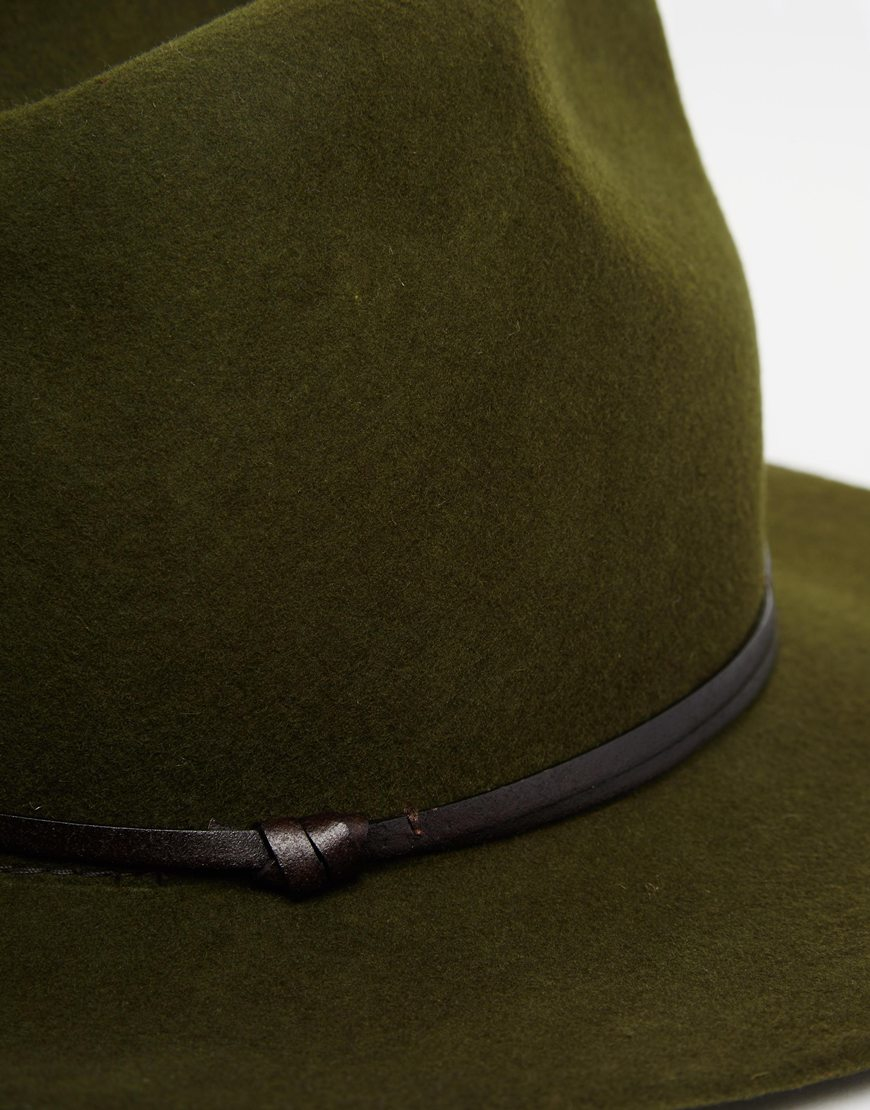 c817fb052bc Lyst - Catarzi Wide Brim Unstructured Fedora Hat in Green for Men