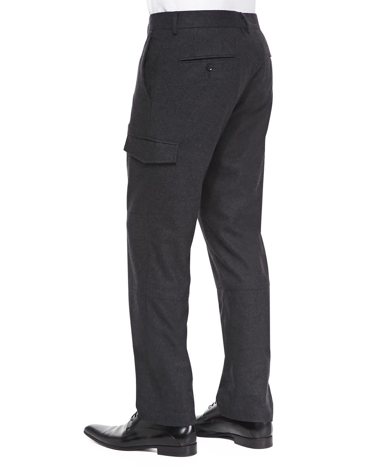e738618052 Vince Gray Slim Wool-Blend Cargo Pants for men