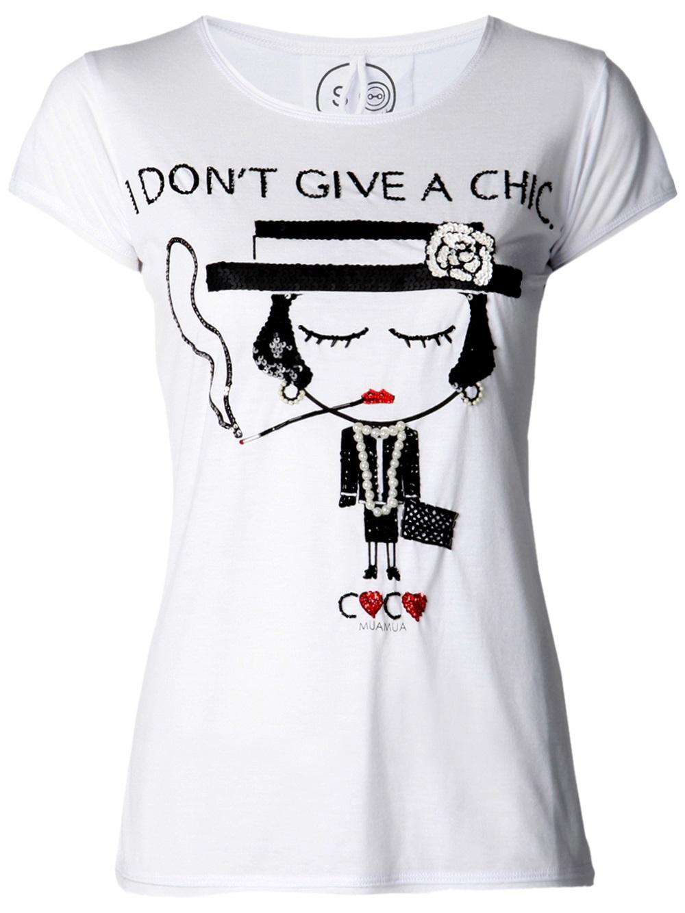 Lyst Mua Mua Coco Chanel T Shirt In White
