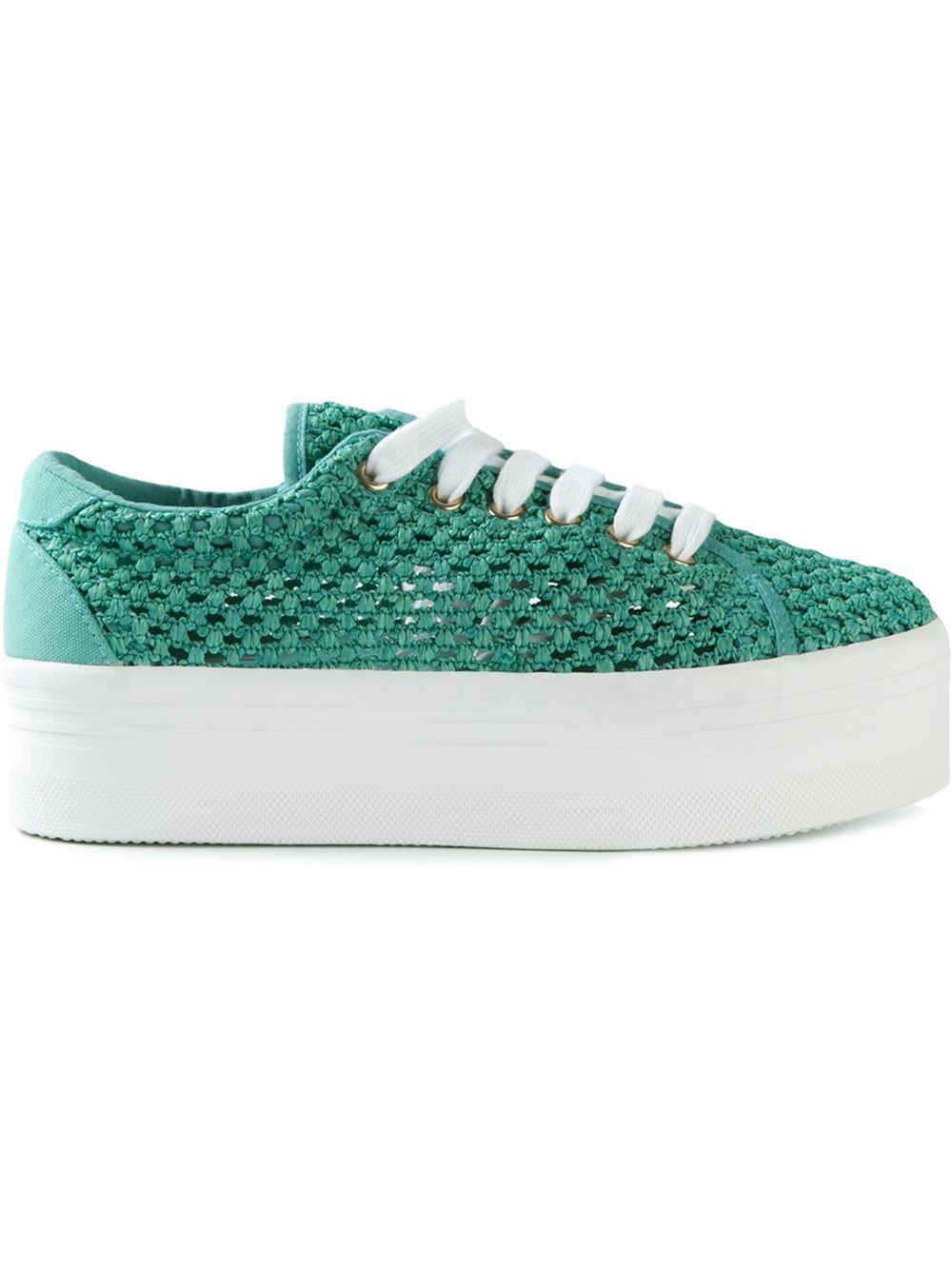 jeffrey cbell mesh platform sneakers in green lyst