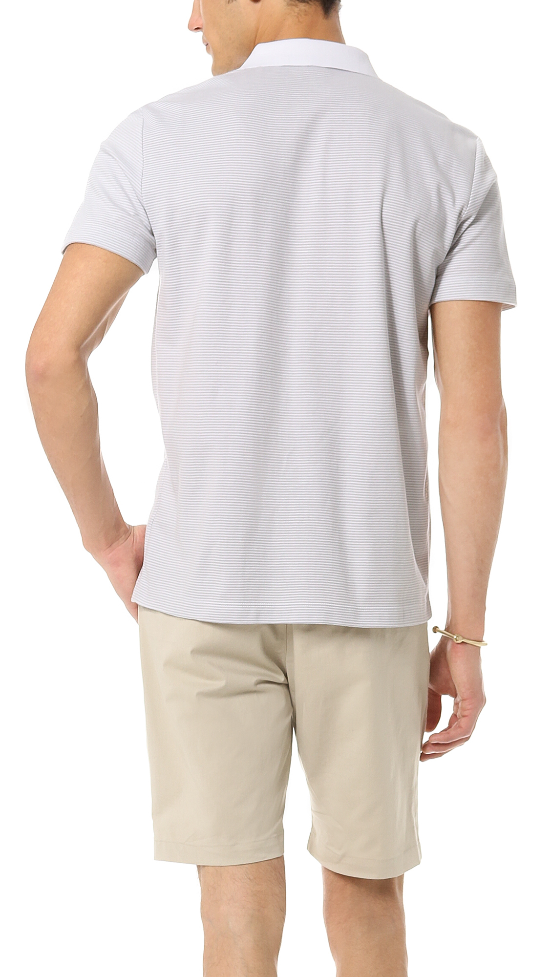 theory boyd polo in white for lyst