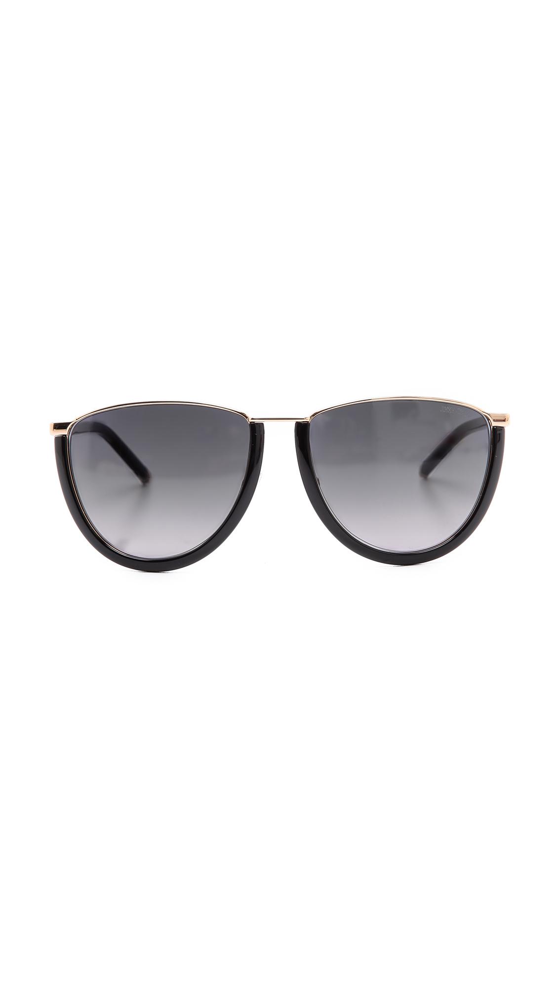 Jimmy Choo Mila Sunglasses - Rose Gold/Black/Grey Gradient
