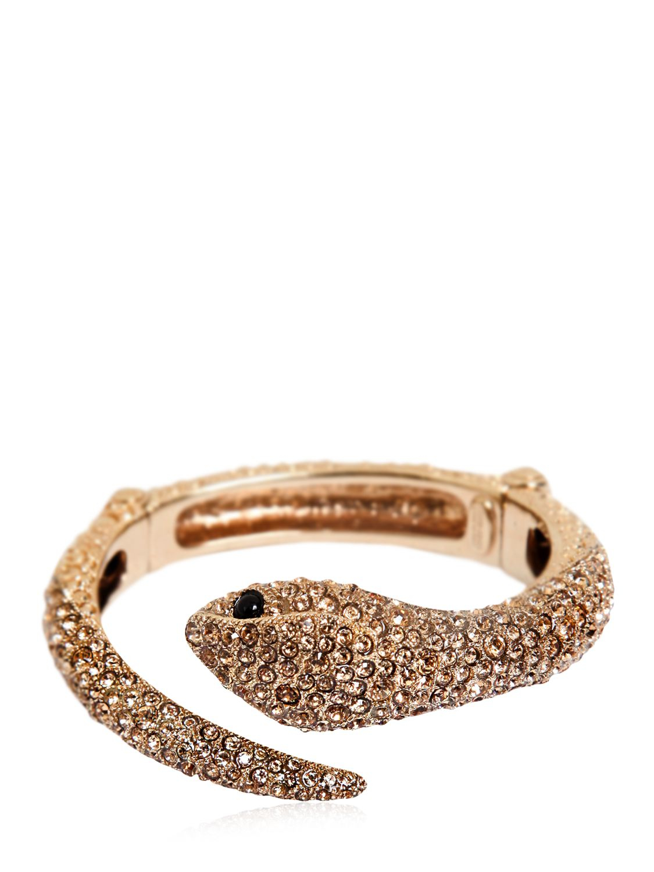 Roberto Cavalli embellished snake bracelet - Metallic ayWXSYp
