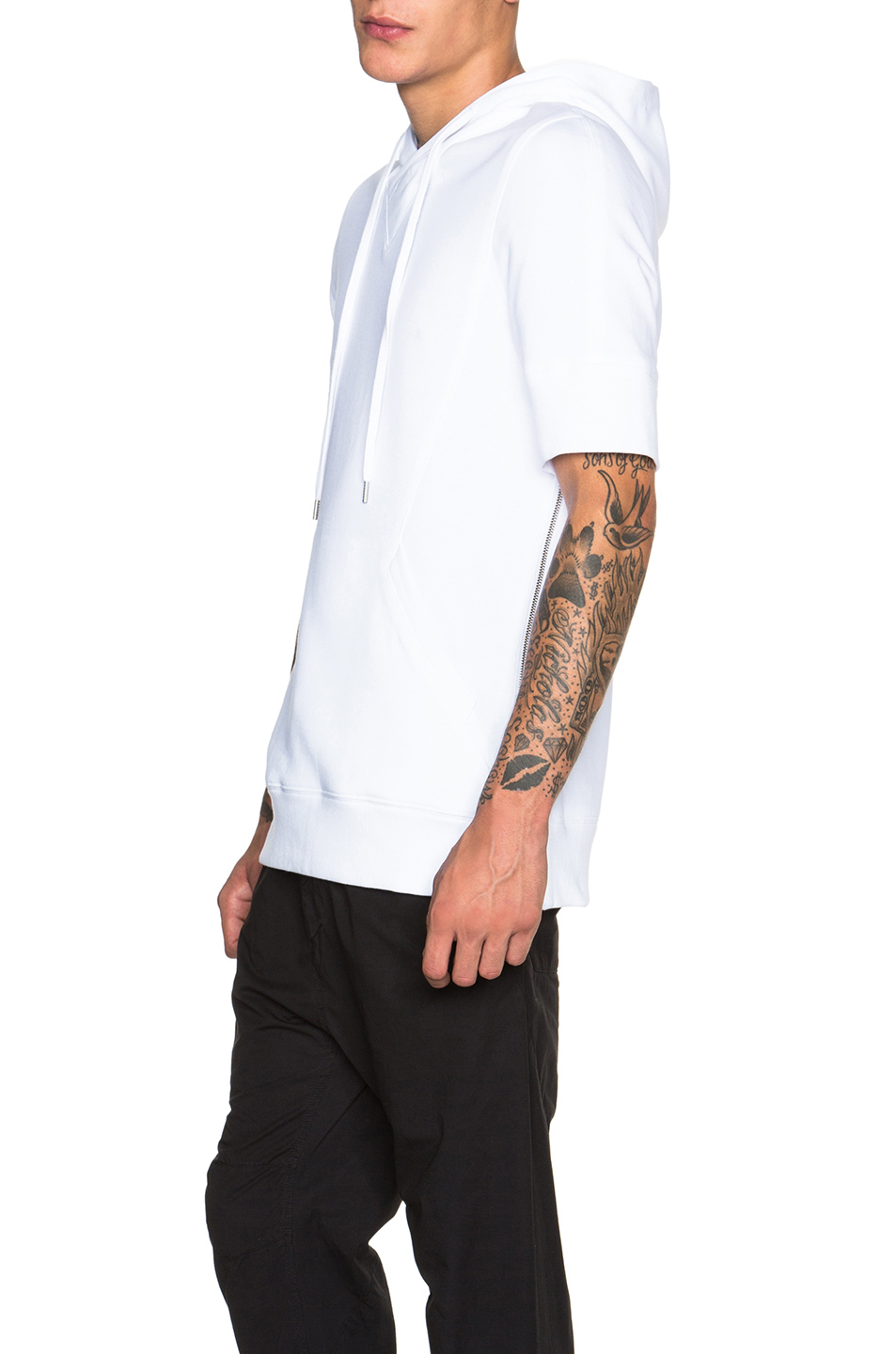 Collection Short Sleeve Hoodies Mens Pictures - Reikian