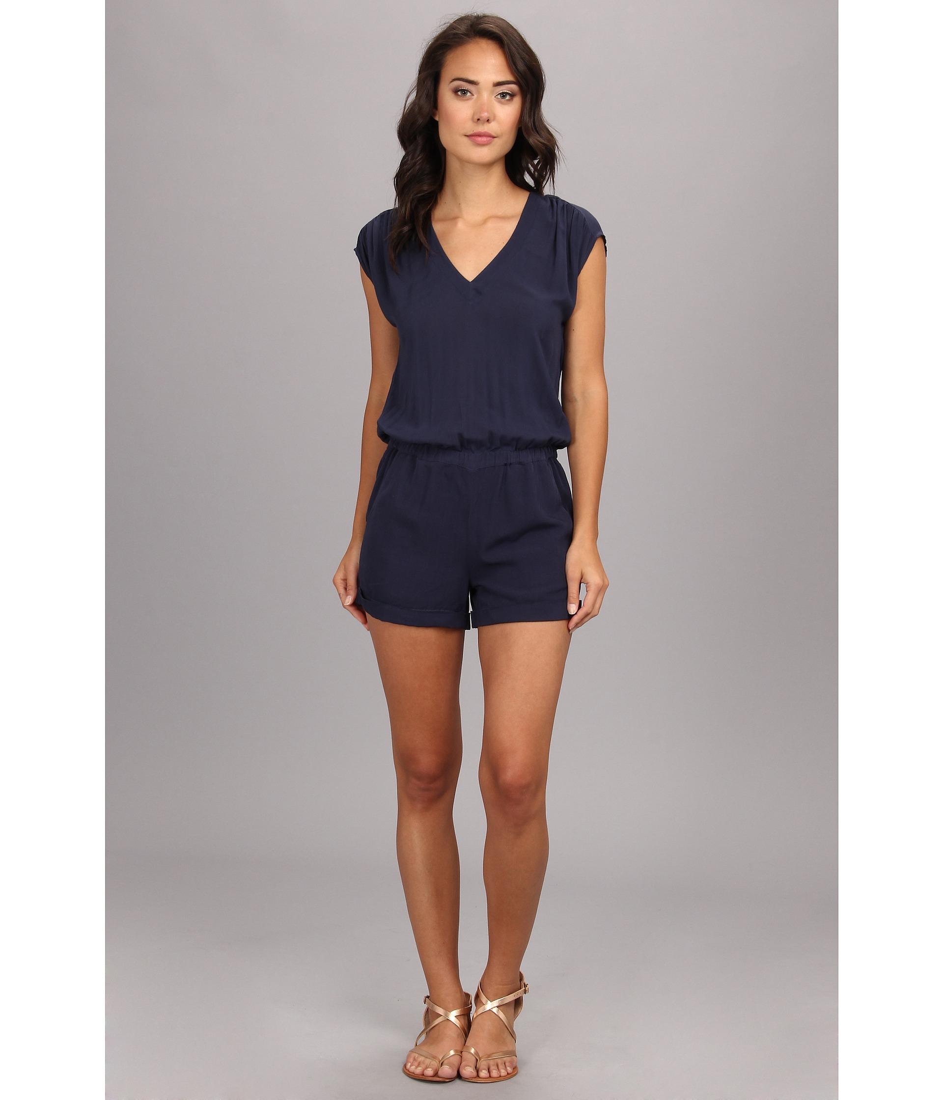 9360d08e428d Lyst - Splendid Short Romper in Blue