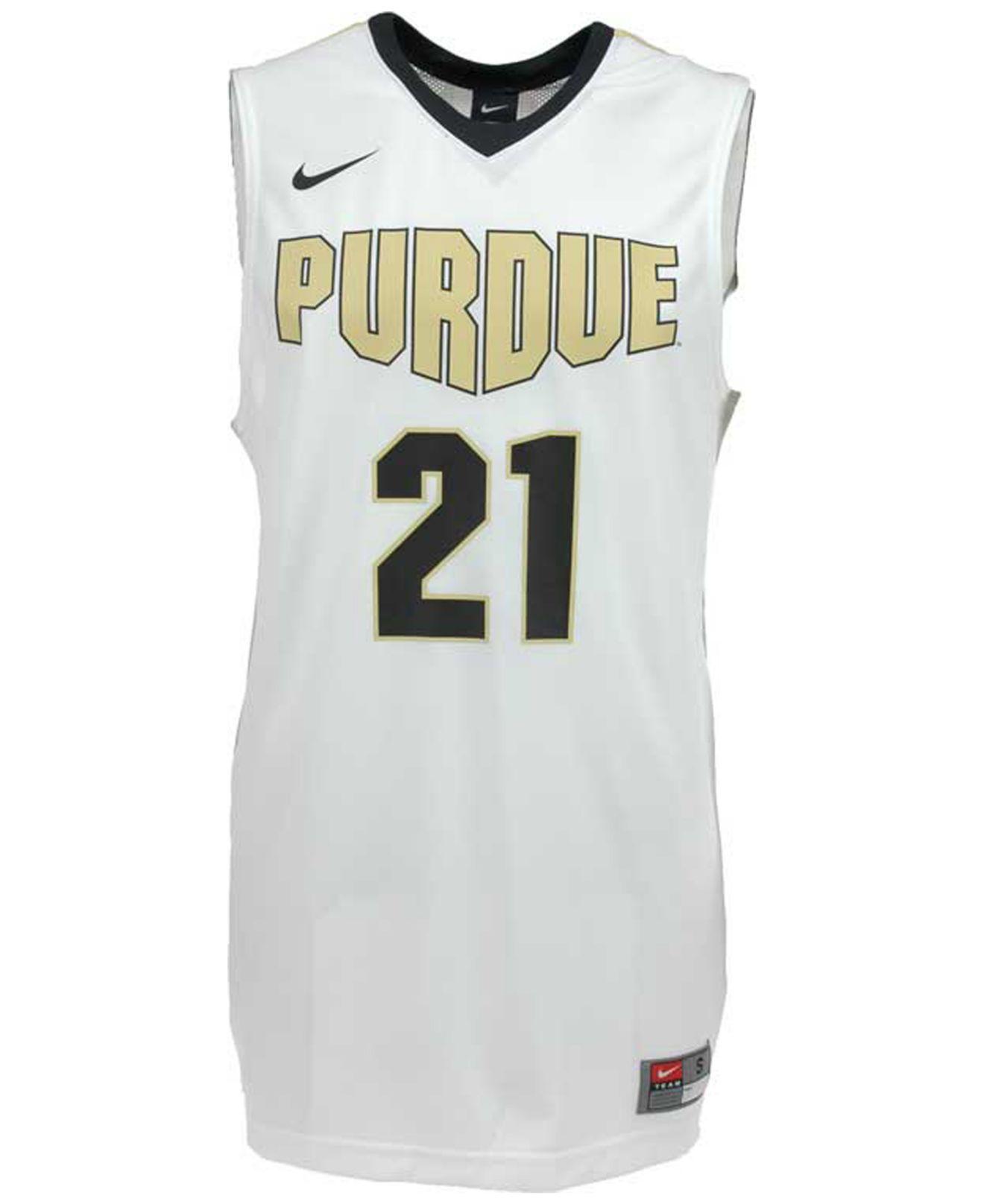 pretty nice 07809 b57f5 White Men'S Purdue Boilermakers Basketball Jersey