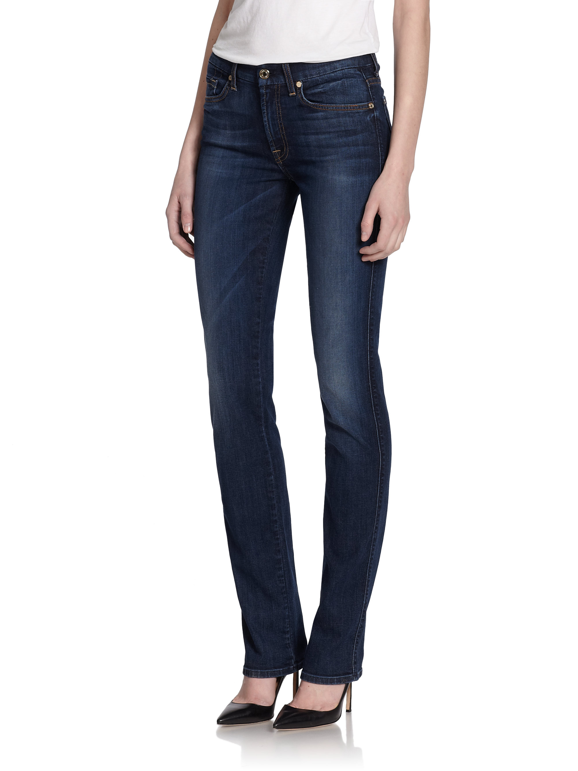 Sale High Quality Womens Kimmie Straight Slim Jeans 7 For All Mankind Quality From China Cheap Clearance Fashionable Purchase Knock Off WymIrIo5W