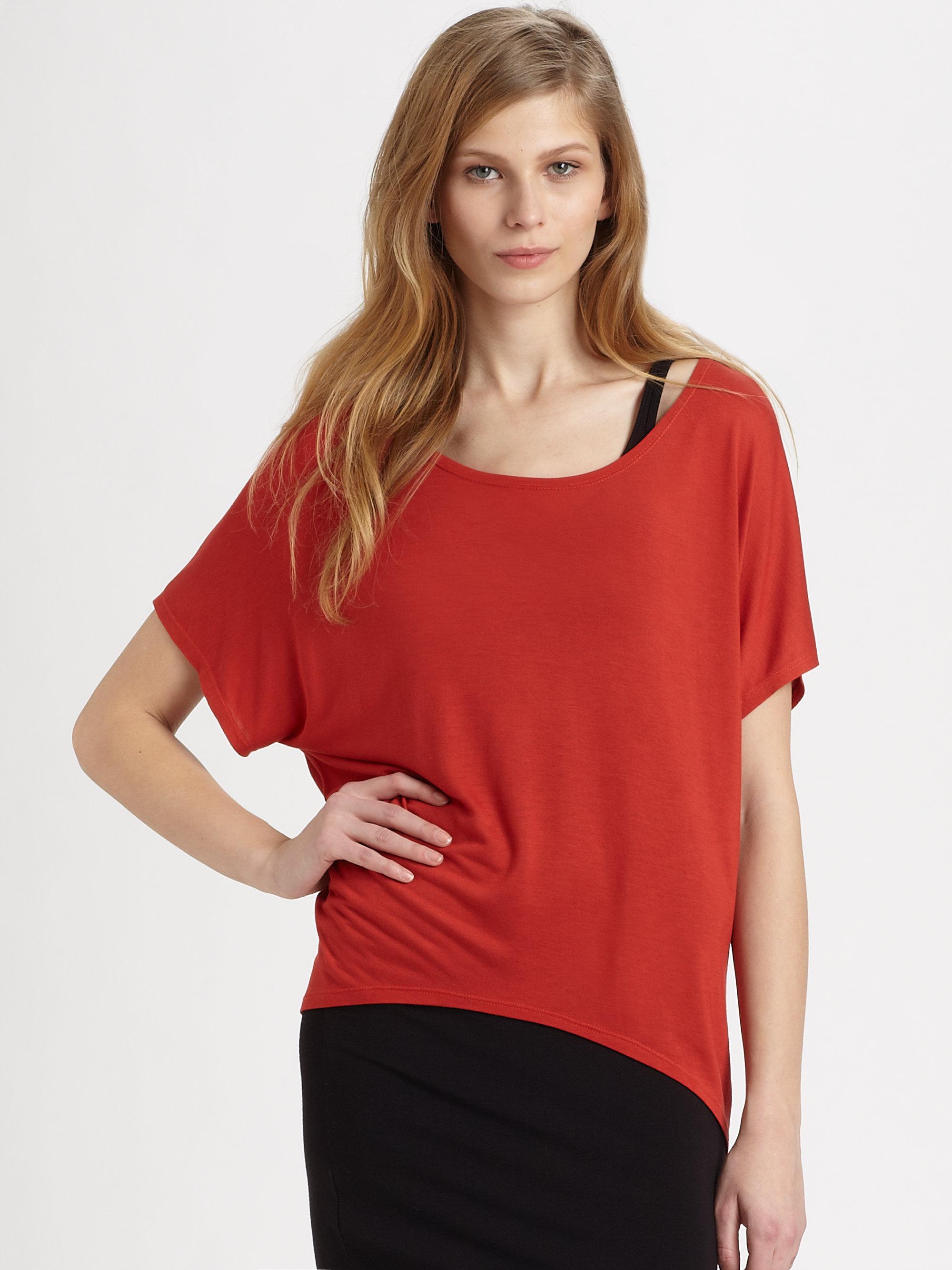 kimberly ovitz doni tshirt in red lyst