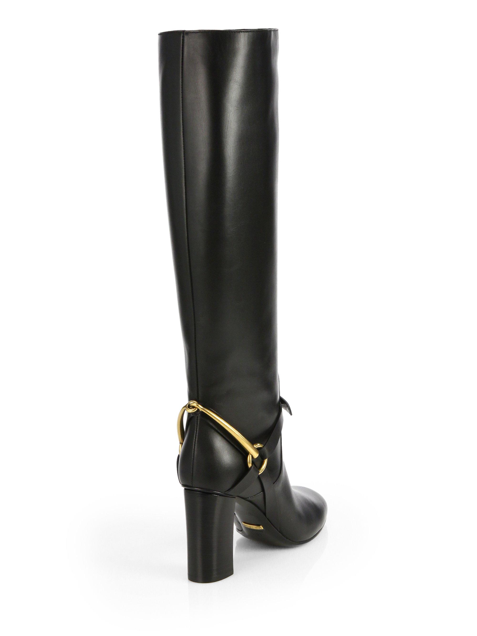 Gucci Tess Leather Horsebit Kneehigh