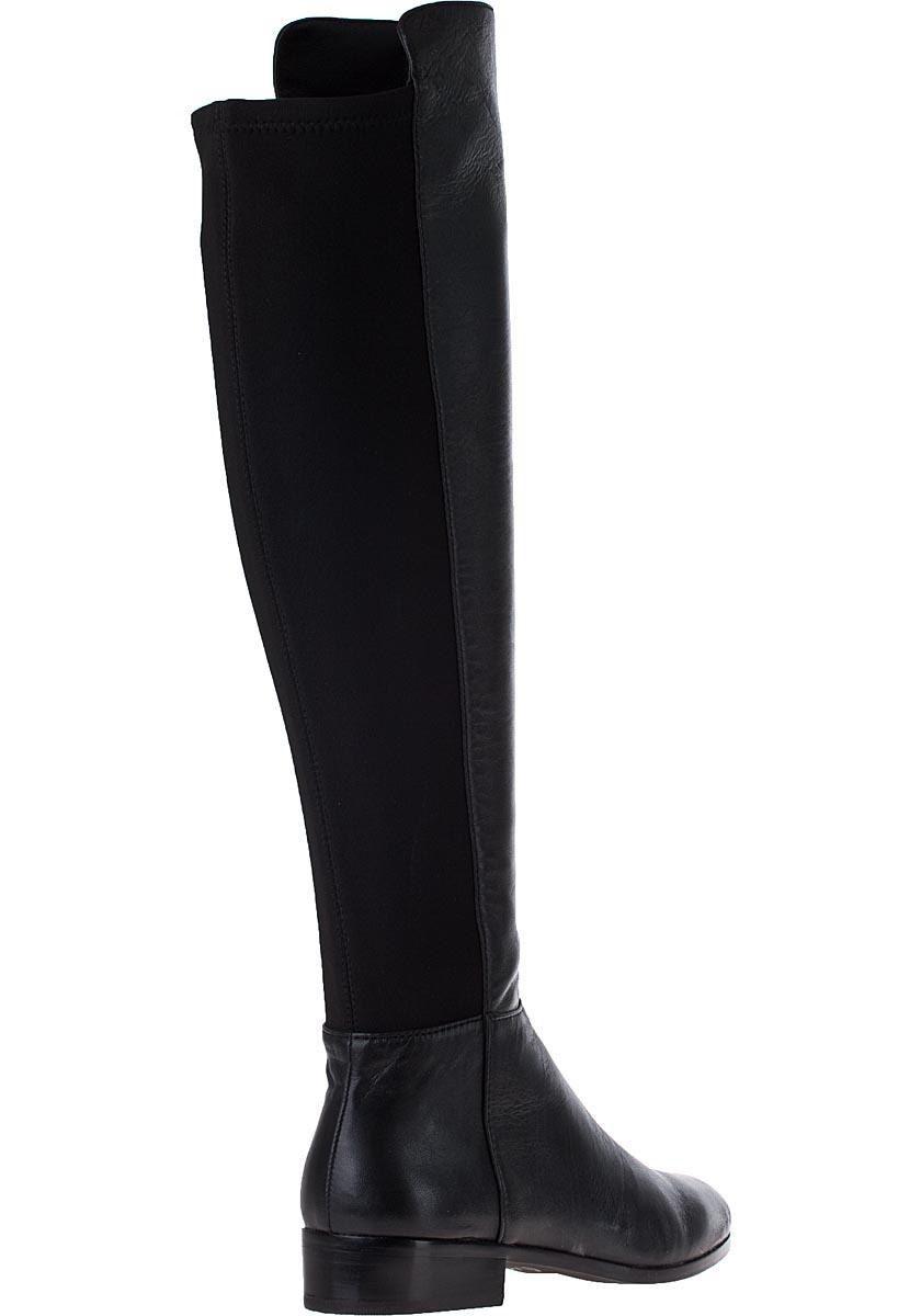 michael michael kors bromley flat boot black leather