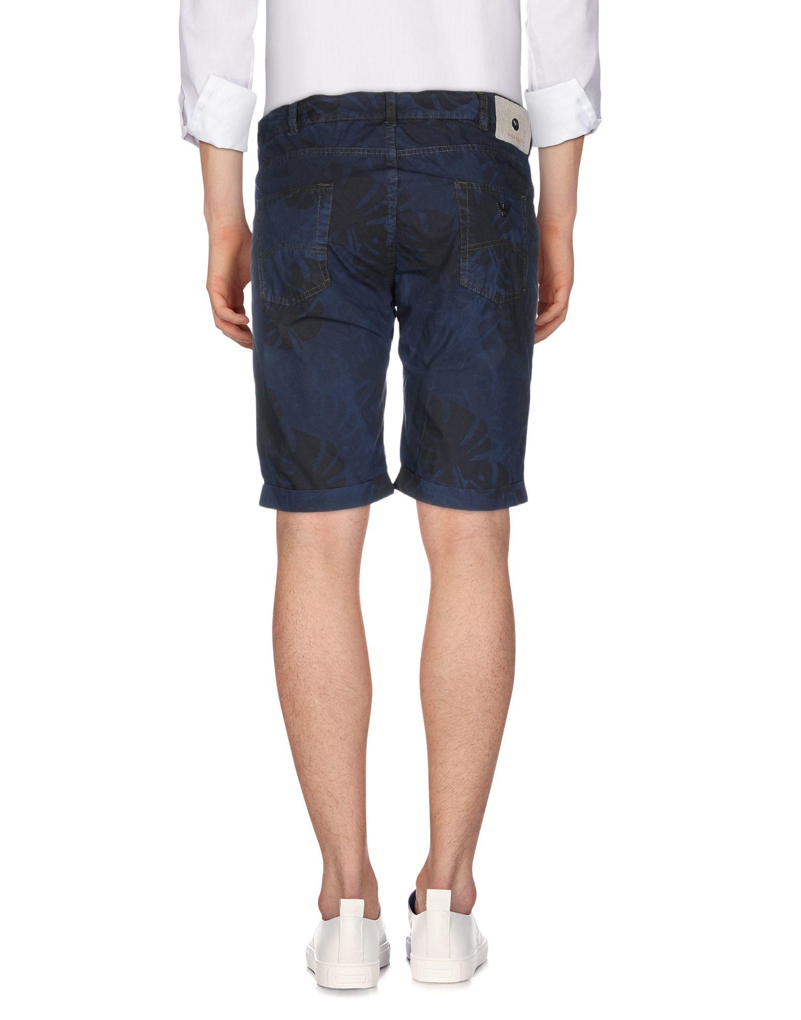 armani bermuda shorts in blue for lyst