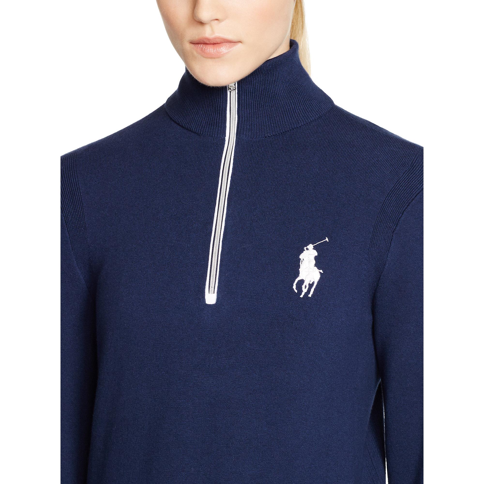 lyst ralph lauren golf big pony mockneck pullover in blue. Black Bedroom Furniture Sets. Home Design Ideas