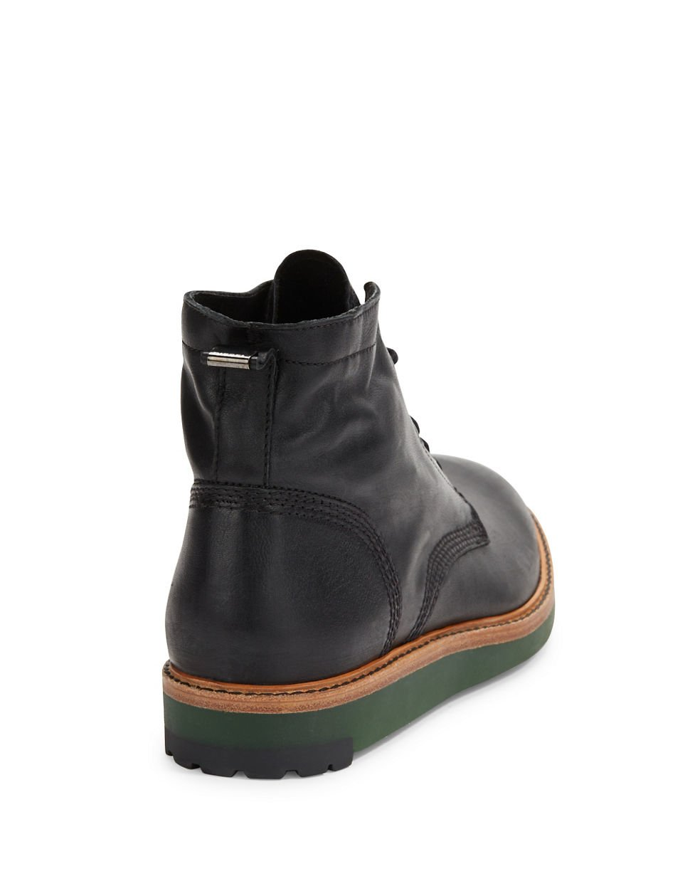 diesel jarghe leather high top boots in black for lyst