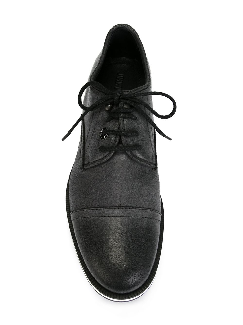 jimmy choo stewart lace up shoe in black for lyst