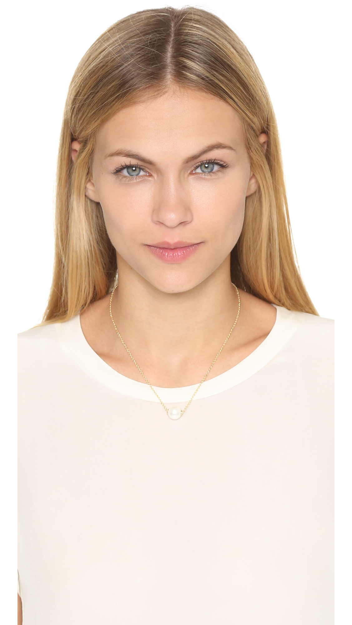 Amber Sceats Solo Necklace - Gold/pearl in Metallic