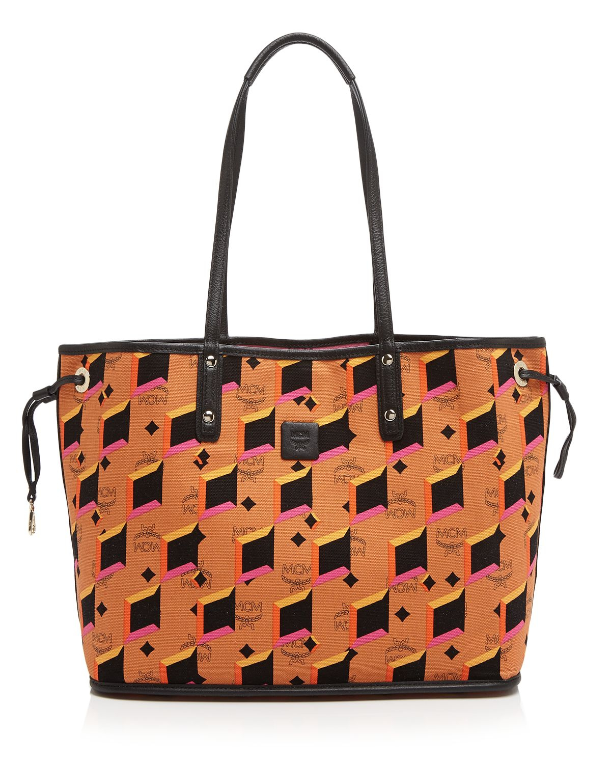 Mcm Tote Shopper Project Visetos Reversible In Pink Lyst
